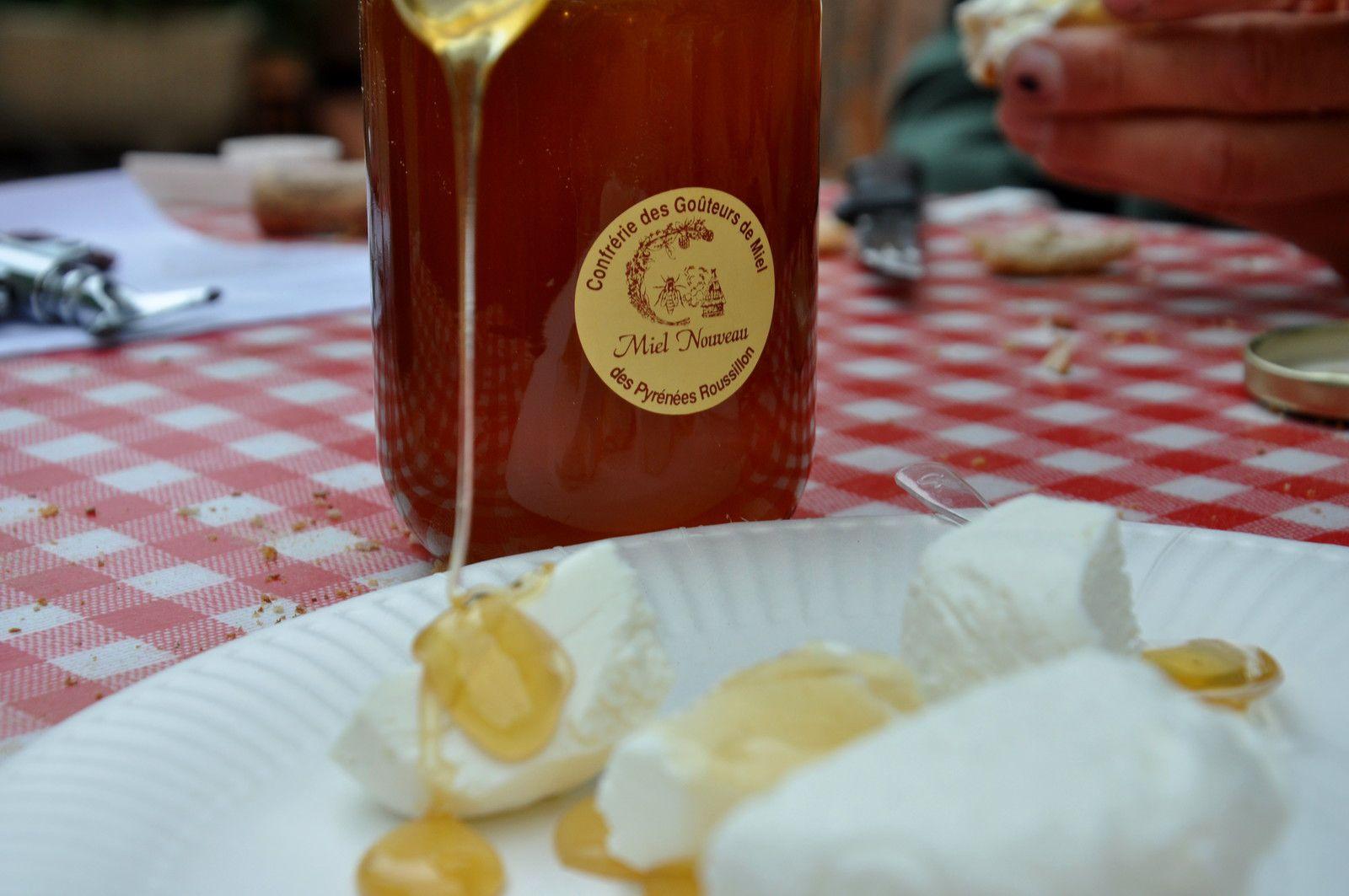 Fromage et miel un duo fabuleux.