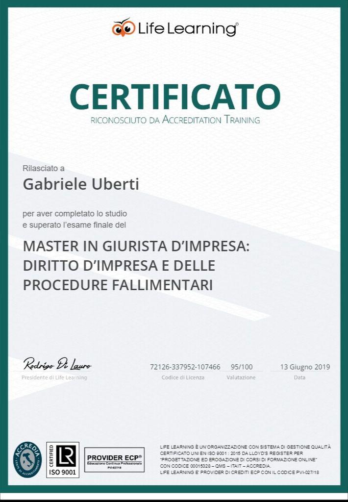 Consulente legale Master in Giurista d'Impresa