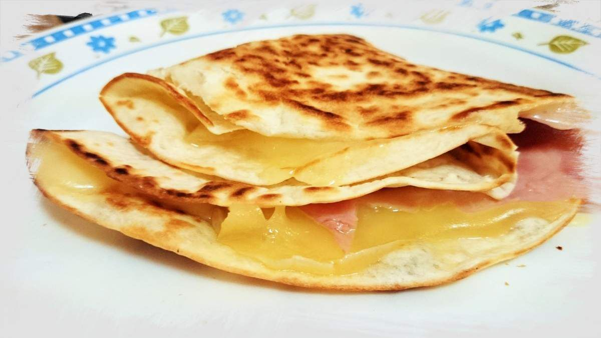 Tortitas de queso y jamon york