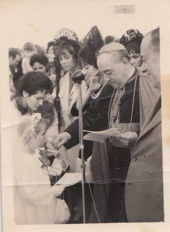 Visita del Cardenal Bueno Monreal a Badolatosa 1964
