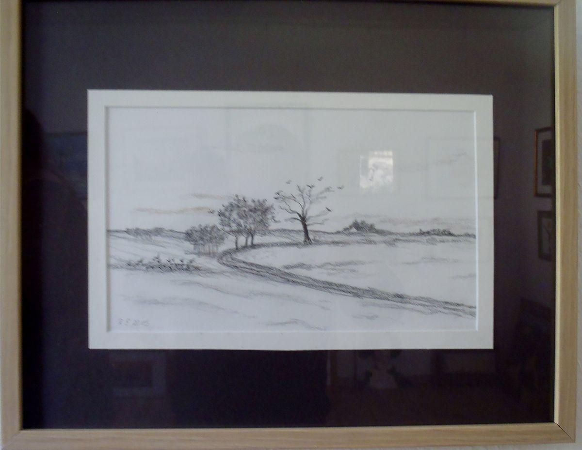 Malerei, Zeichnungen und bemalte Steine in der Kleinen Galerie