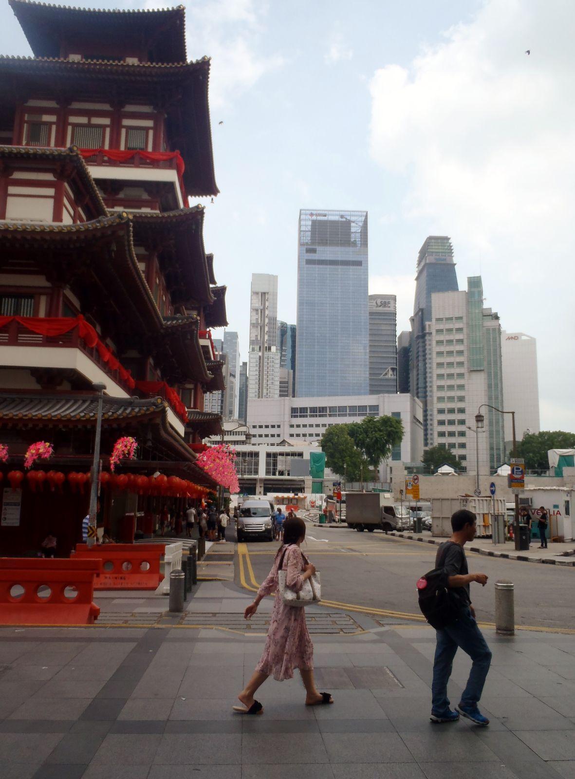 Chinatown und buddhistischer Tempel