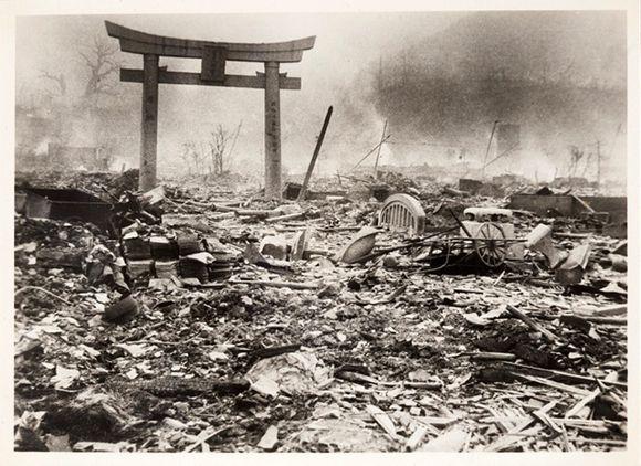 Nagasaki luego del bombardeo