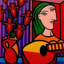 Perfil y ojos errantes (Pablo Picasso)