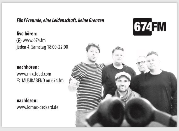 674.fm Playlist Sendung MUSIKABEND FT. LOMAX-DECKARD.de - 27.01.2018