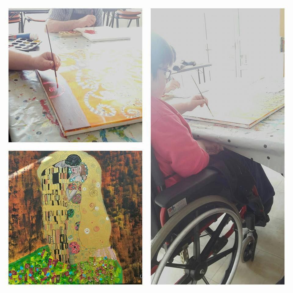 """Tableau """"à la manière de"""" en structure handicapée"""