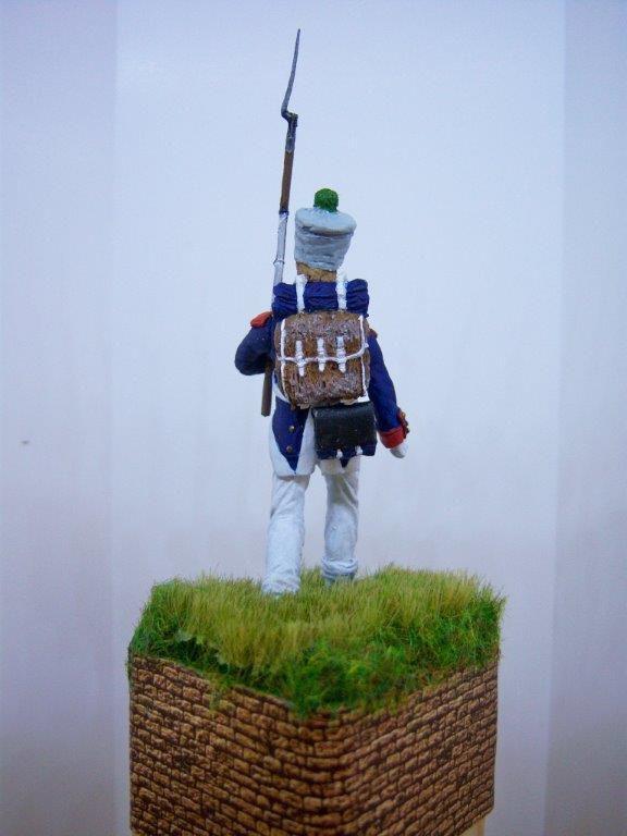 """Fusilier d'infanterie de ligne en 1815. Figurine """"Les Armées de Waterloo en 1815""""."""