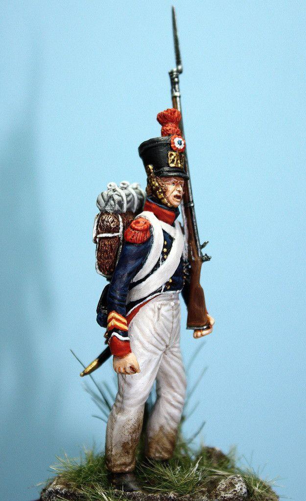 Caporal du 1er régiment des tirailleurs grenadiers de la jeune garde impériale à Plancenoit.