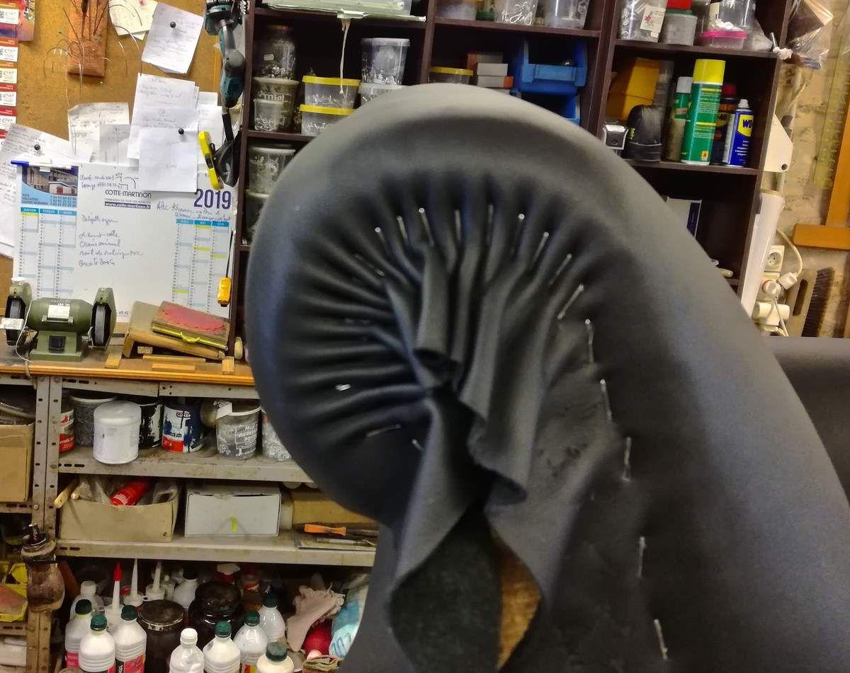 Atelier hafner, restauration fauteuil cuir