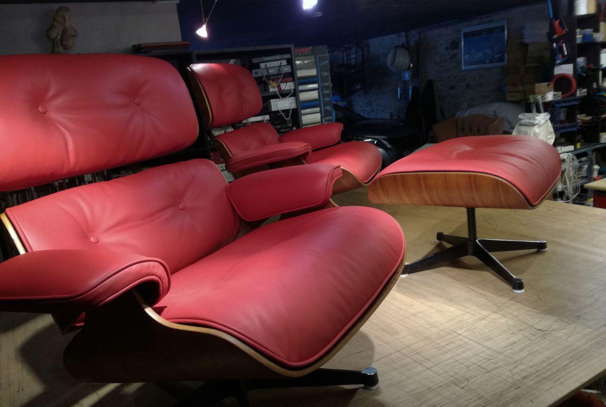Sellier pour restauration et réparation lounge Eames - La Rochelle