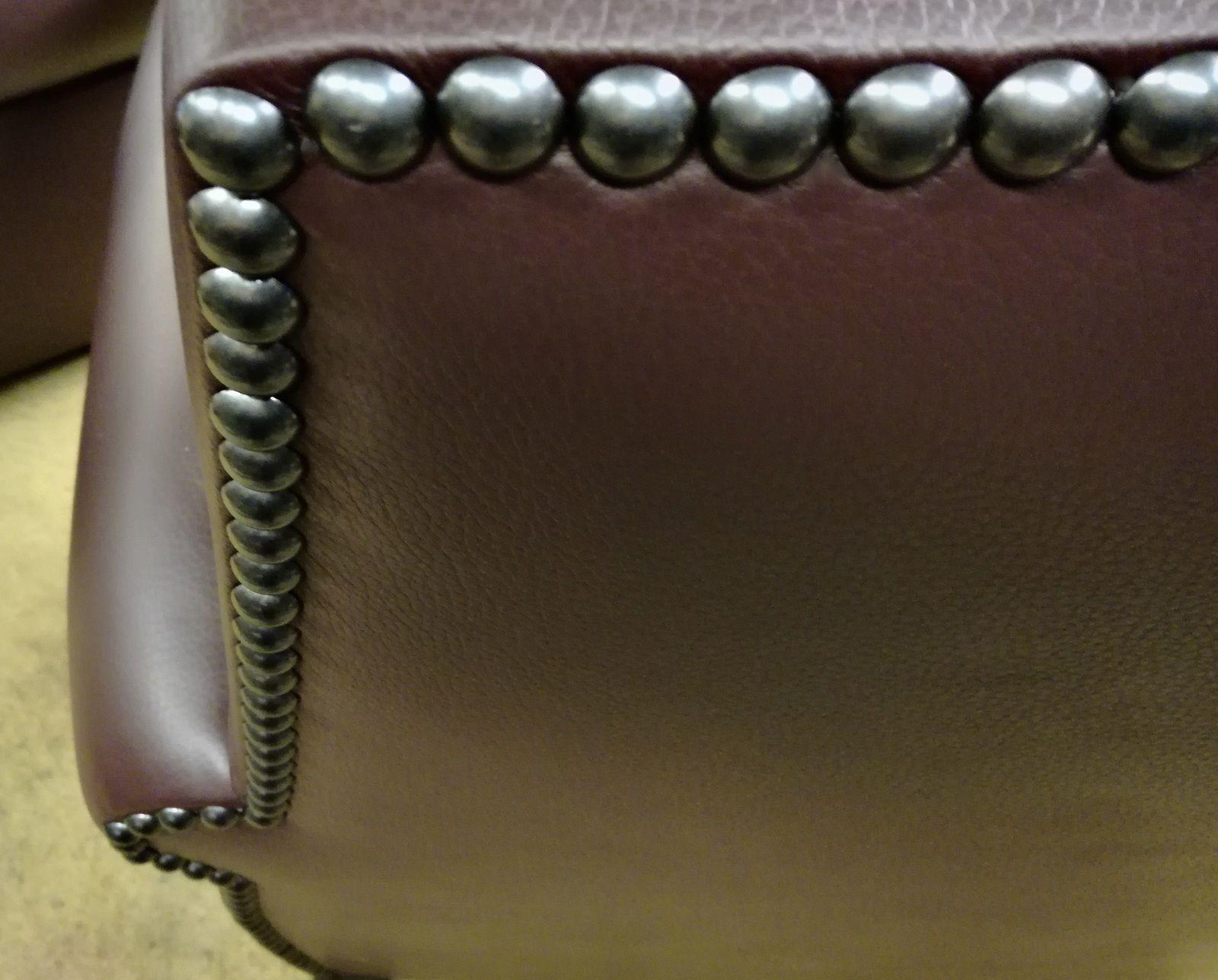 Réfection fauteuil club cuir