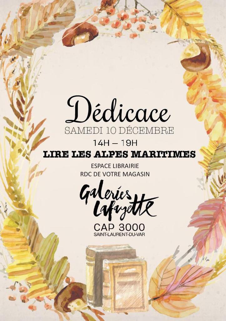 """""""Lire les Alpes Maritimes"""" Samedi 10 décembre 2016"""
