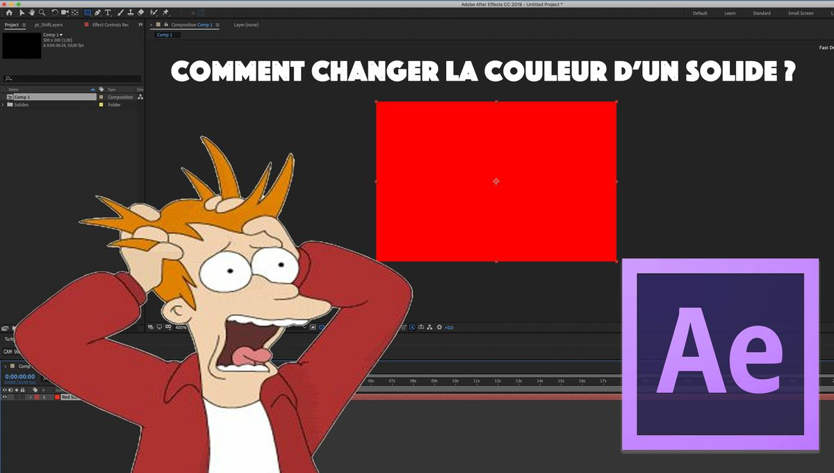 Comment changer la couleur d'un solide sur AFTER EFFECTS ? [SOLUTION]