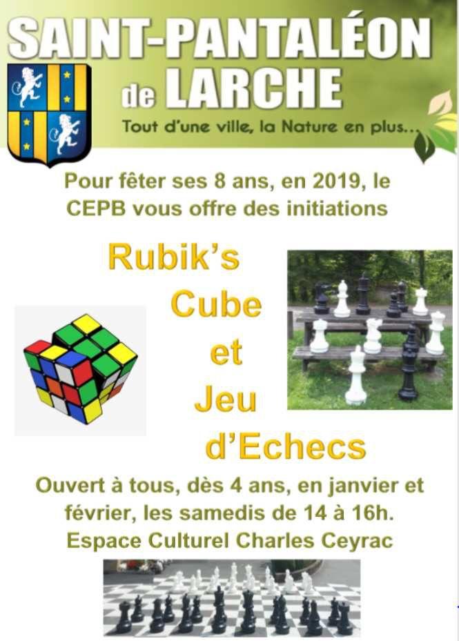 Initiation aux échecs et rubik's cube offerte pour les  8 ans du club !! @ClubEchecsduPaysdeBrive