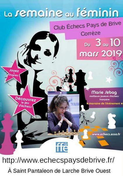 Venez participer aux Echecs 100% Féminin, le rapide L'Ange Loup ( Wolf Angel ) lors de la semaine au Féminin en Corrèze