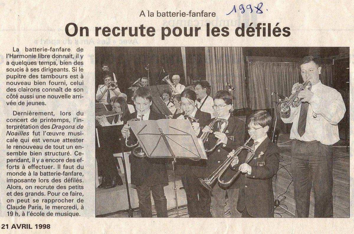 1998 . LES CLAIRONS ...