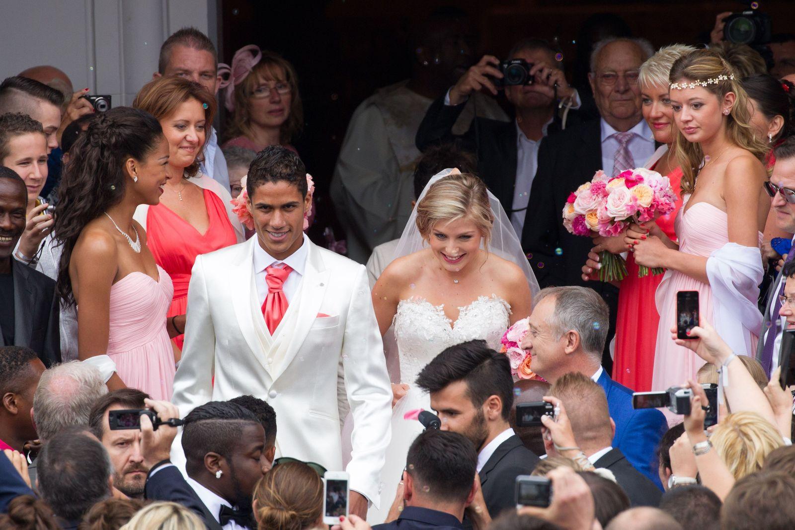 Jules Dilly ( en haut à droite ). Au Mariage de sa Petite Fille Camille avec Raphaêl Varane   ( Footballeur International Français évoluant au Real de Madrid ) le 20 juin 2015 dans la ville du Touquet ...