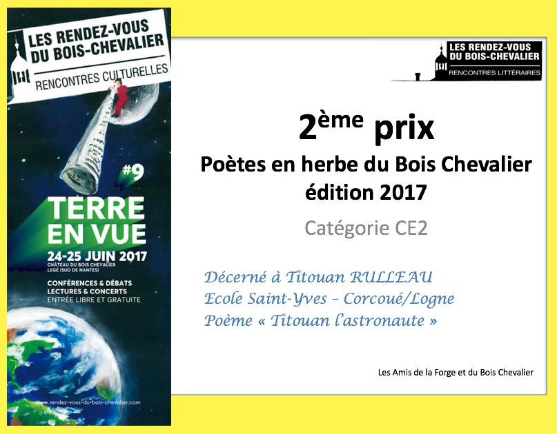 Le Prix des poètes en herbe 2017