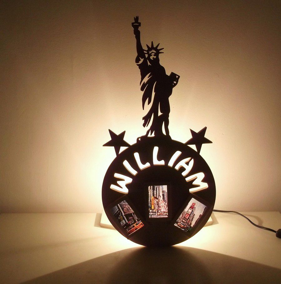 Lampe New York artisanale