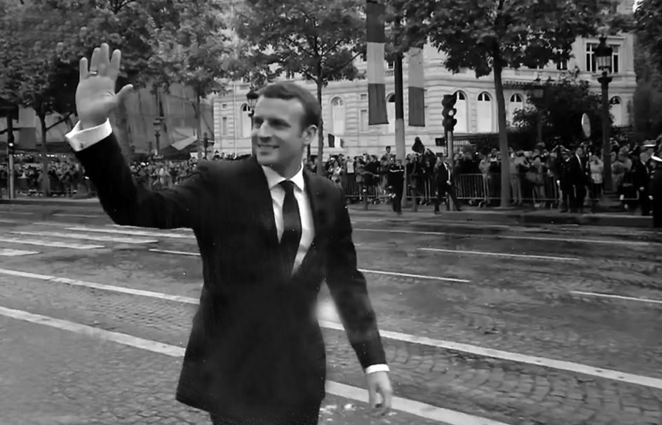 Images autour de la passation de pouvoir d'Emmanuel Macron 2017