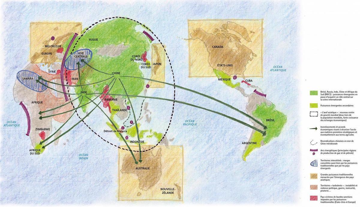 Carte Australie Chine.Le Monde Vu De La Chine Lemonde Fr Visioncarto Net Blog Histoire