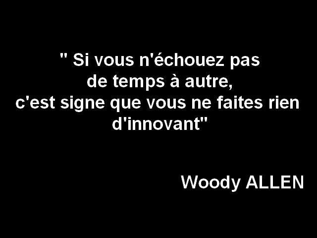 Le Droit A L Erreur Citation Woody Allen Le Projet Inassis