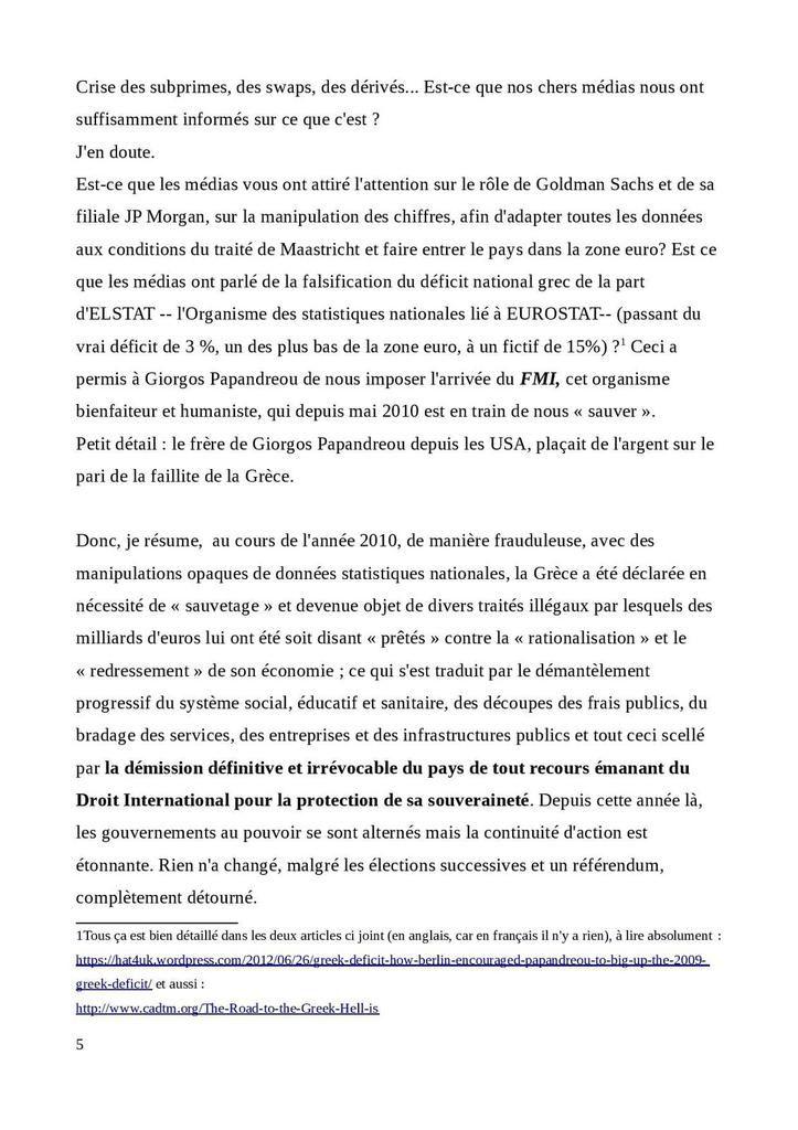 L'Université Populaire de  «Comité pour une Nouvelle Résistance-CNR».  Vidéo de Christina Komi. Partie 1 sur 4.