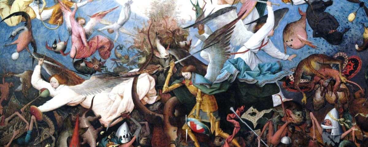 Illustration :Pieter Bruegel, La chute des anges rebelles, 1562 (musées royaux des beaux-arts de Belgique à Bruxelles)