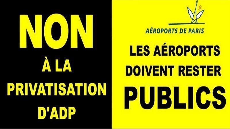 Non à la privatisation d'Aéroports de Paris ! Non à la loi PACTE!
