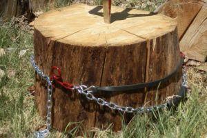 Le SPLITZ-ASSISTpour tenir les buches verticalement - pour l'outil fendeur de buches de bois SPLITZ-ALL de chez Good N Useful