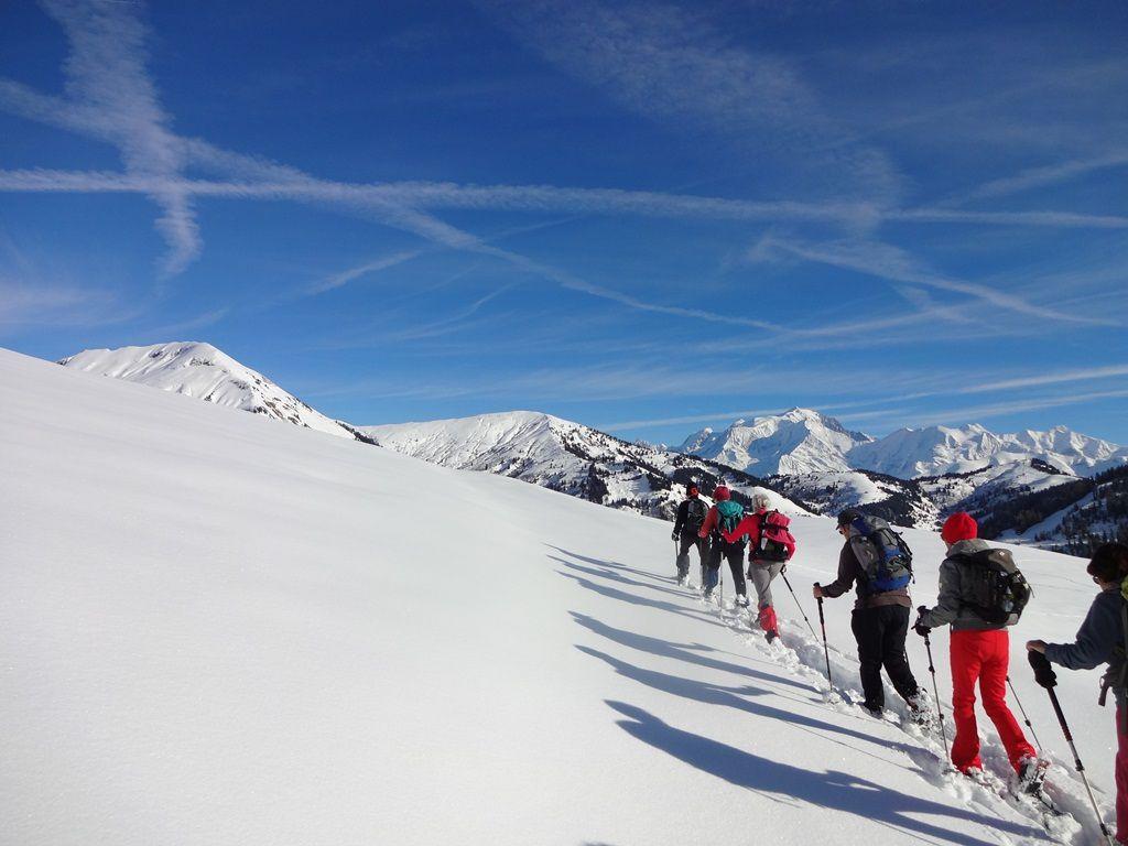 Au-dessus du Mégevan la neige est légère. C'est un grand plaisir d'avancer dans cet espace vierge où il y a cependant des traces de blanchots