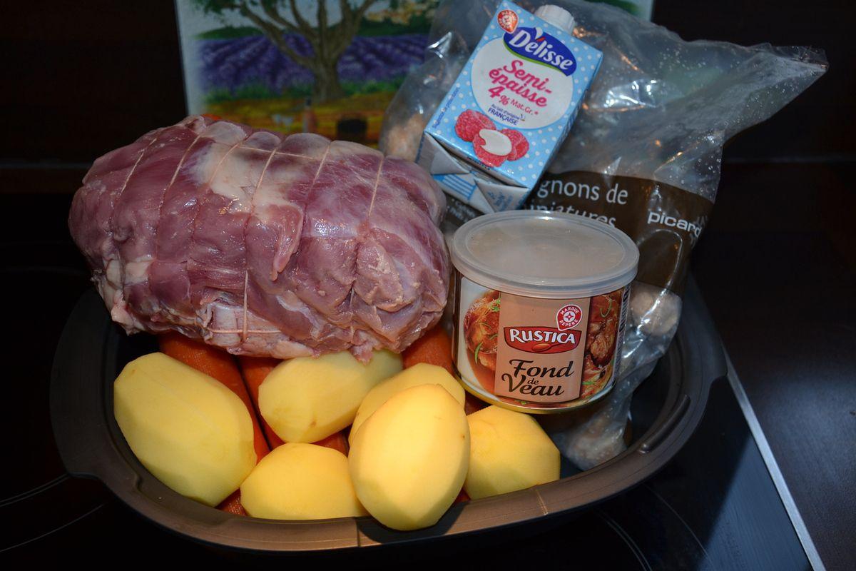 Rôti de veau à la bière avec ses carottes, et pommes de terre 6💚💙💜