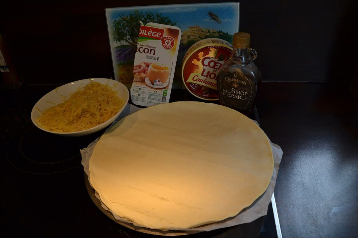 PIZZA CAMEMBERT- POMME ou PIZZA NORMANDE