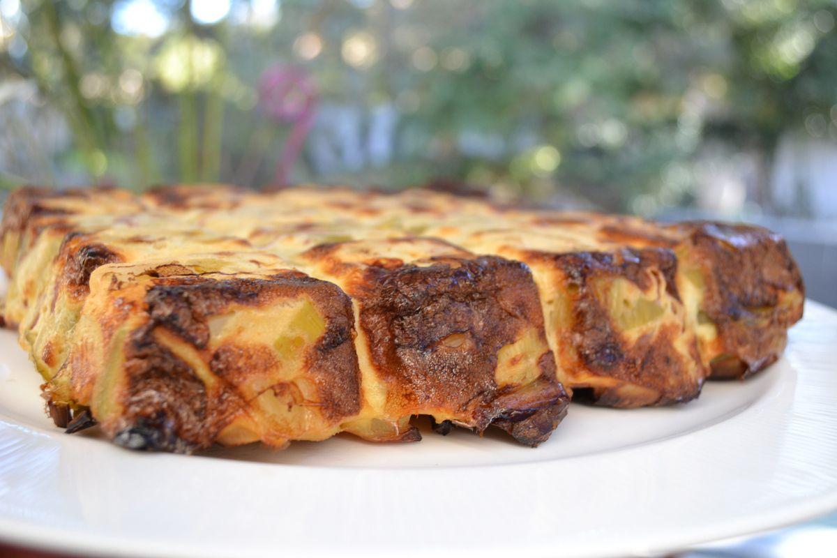 Fondant de  poireaux, pomme de terre, bacon et cancoillotte  4💚3💙2💜