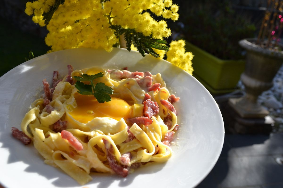 TAGLIATELLES CARBONARA WEIGHT WATCHERS