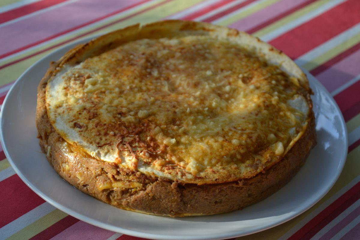 Lasagne de tortillas au bœuf et aux poivrons