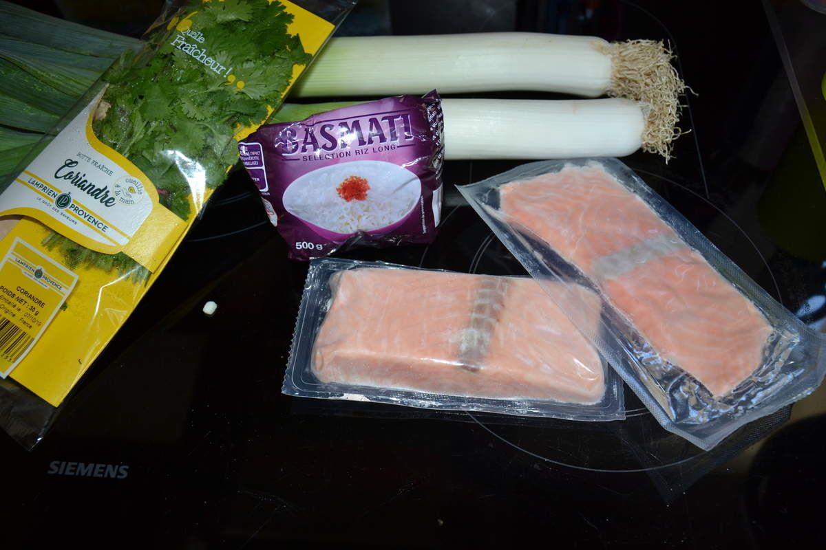 Papillotes de saumon, coriandre et citron  4 💚 💙💜