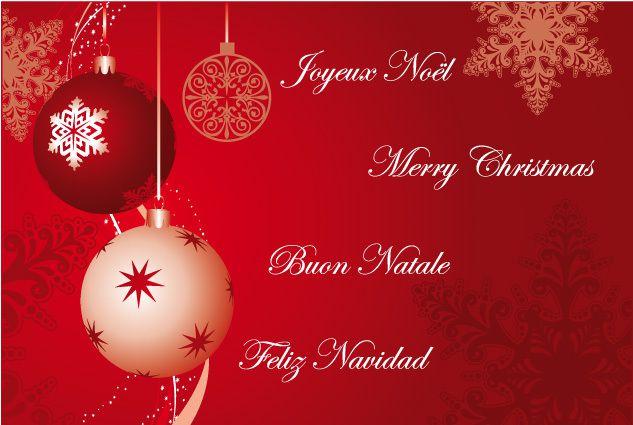 Feliz Natal, Merry Christmas, Buono Natale, Frohe Weihnachten, Joyeux Noël à tous