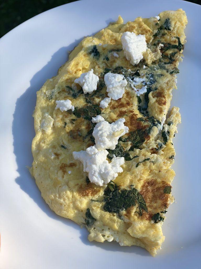 Omelette au brocciu et à la menthe 7 💚4 💙💜