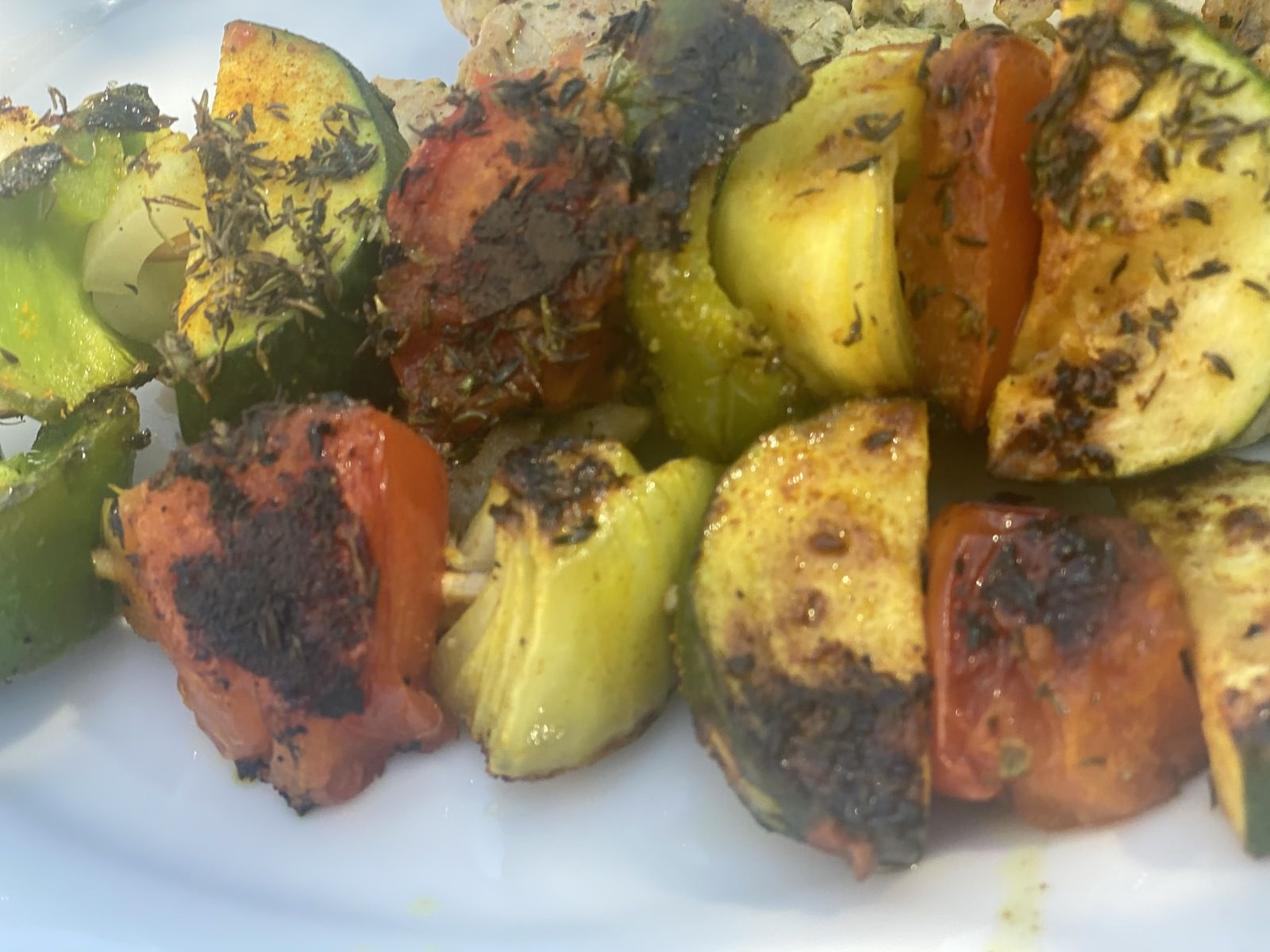 brochettes de légumes et araignée de porc à la plancha 3💚💙💜 Weight Watchers