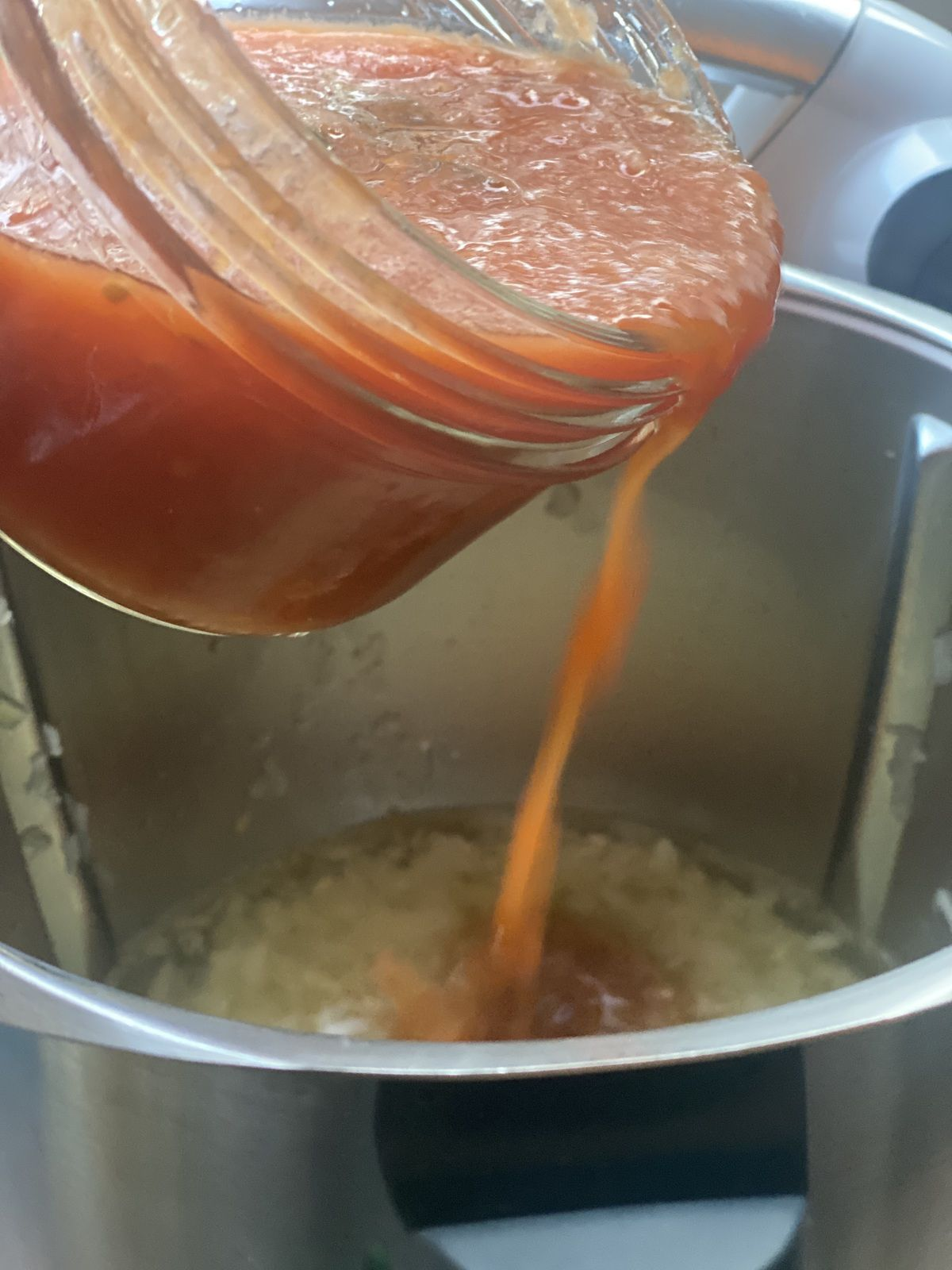 Risotto à la tomate et au parmesan WW au Thermomix  7💚💙💜