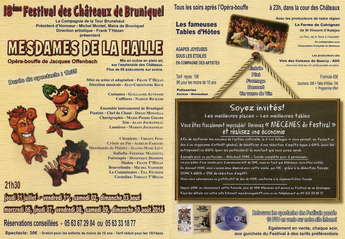 18ème FESTIVAL DES CHÂTEAUX DE BRUNIQUEL