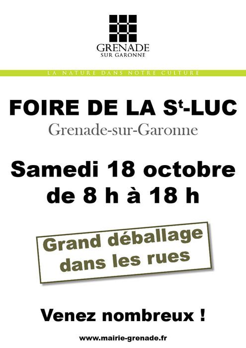 GRENADE SUR GARONNE : FOIRE DE LA SAINT LUC