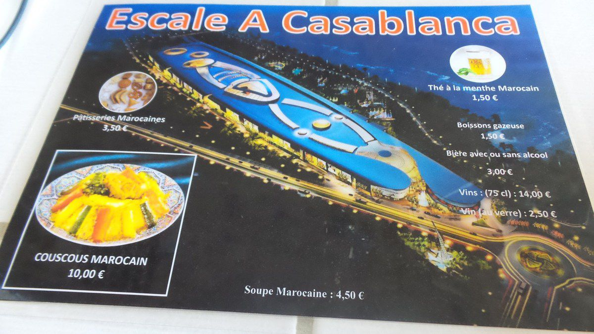 BLAGNAC : RESTAURANT L'ESCALE A CASABLANCA