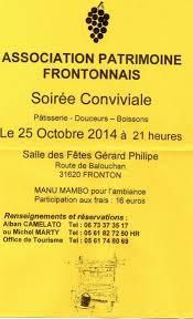 FRONTON : ASSOCIATION PATRIMOINE FRONTONNAIS