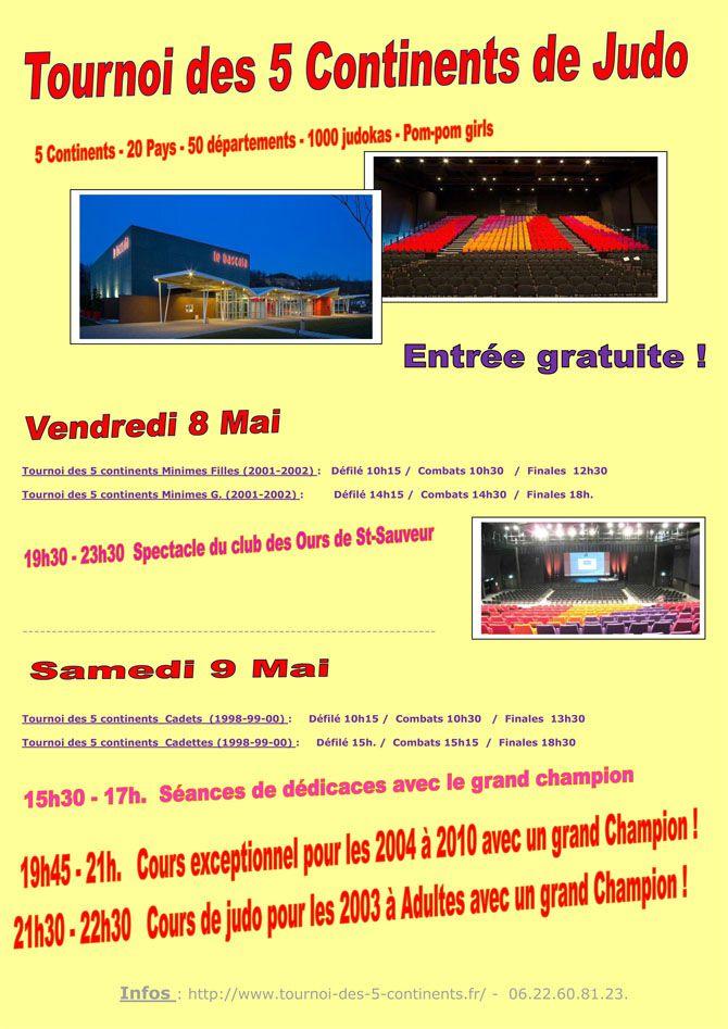 JUDO : TOURNOI DES 5 CONTINENTS