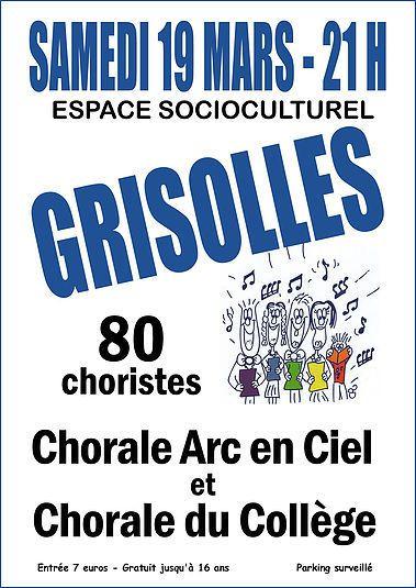 GRISOLLES - CONCERT CHORALES SAMEDI 19 MARS 2016