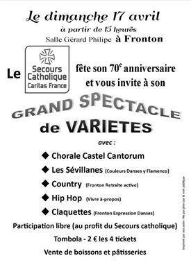 FRONTON : ANNIVERSAIRE DU SECOURS CATHOLIQUE