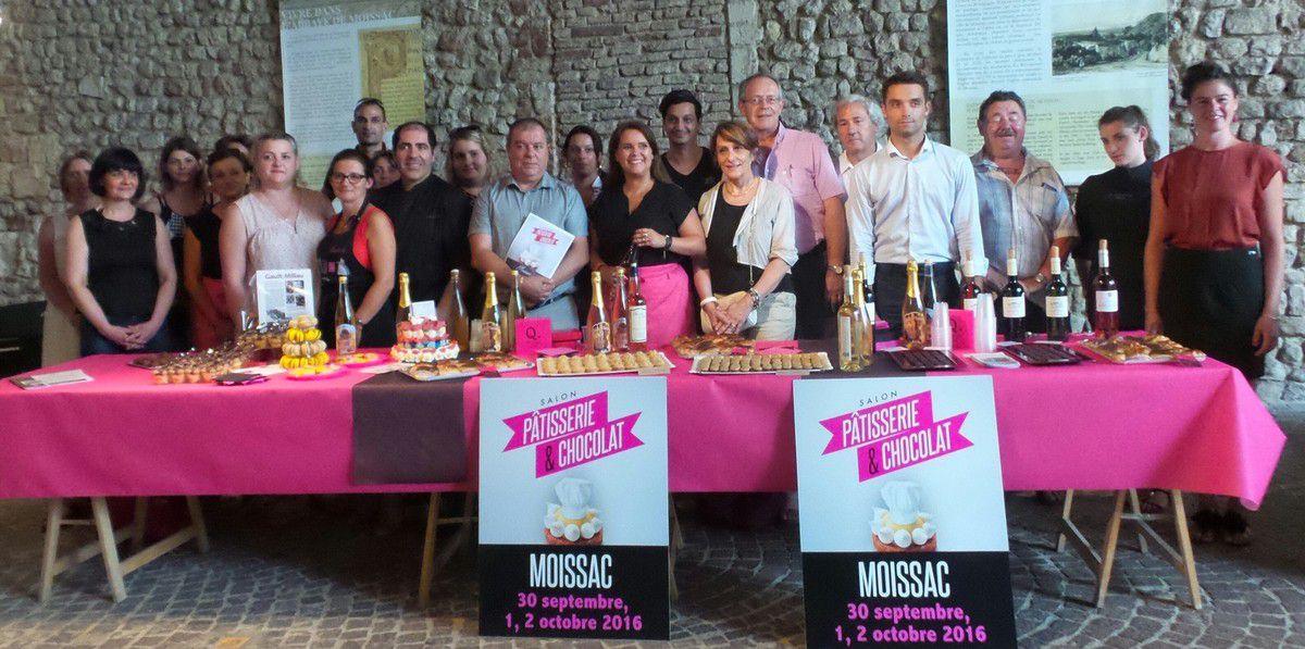 MOISSAC - CONFERENCE DE PRESSE DU SALON PATISSERIE & CHOCOLAT 2016 A L'OFFICE DE TOURISME