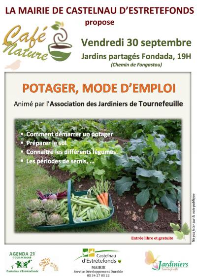 CASTELNAU D'ESTRETEFONDS - CAFE NATURE - ASSOCIATION DES JARDINIERS DE TOURNEFEUILLE